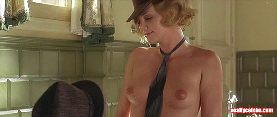 Charlize Theron naked showing tits