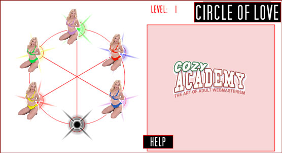 Circle of love porno game – Put the right babe in the right hole!