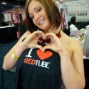Pornstar Tory Lane with RedTube t-shirt