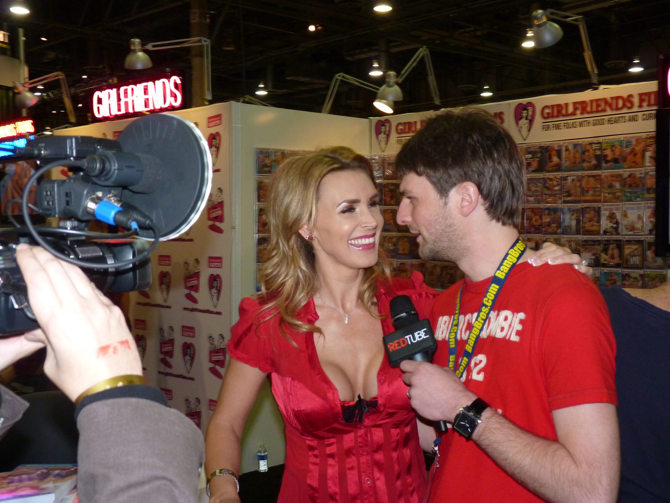 Pornstar Tanya Tate at the AVN Expo