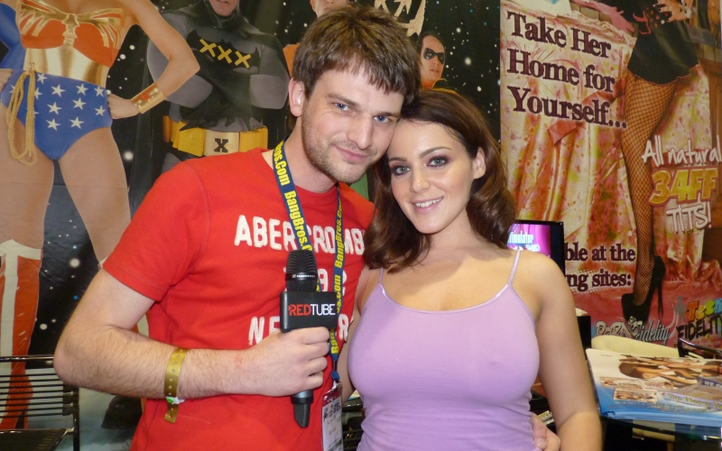 RedTube at the AVN Expo in Las Vegas! The Pornstars talk to Allan Lake.