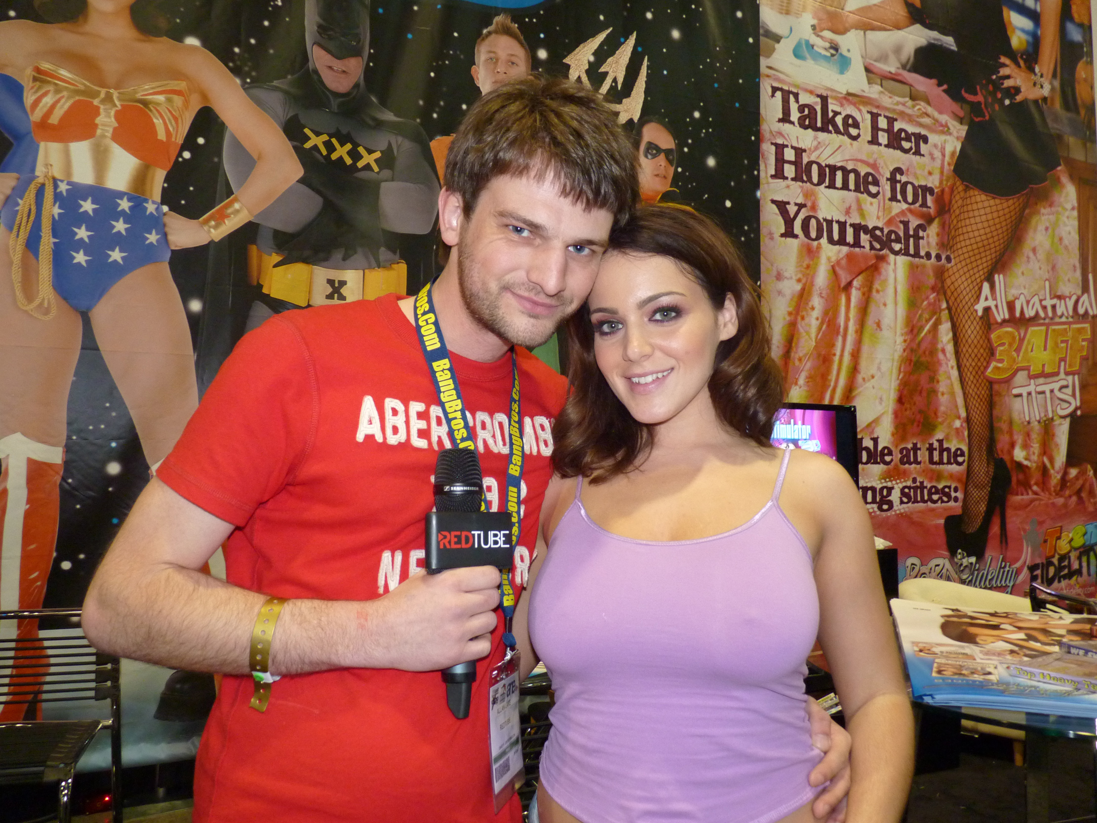 Pornstar Natasha Nice at the AVN Expo