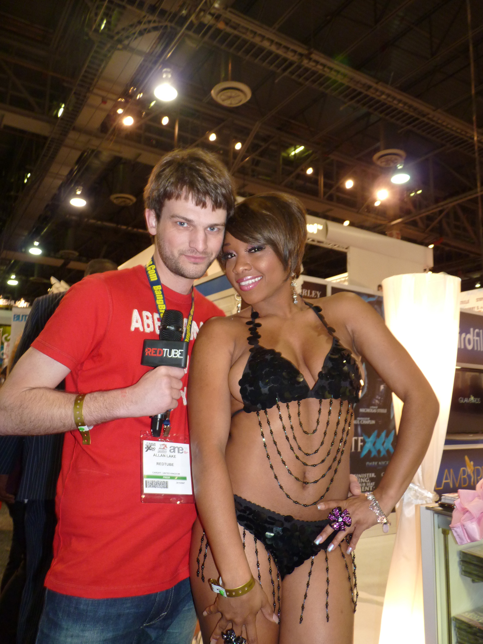 Pornstar Imani Rose at the AVN Expo