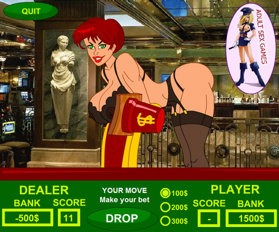 Adult Sex Game – Strip Dice! Roll a high number to strip the dealer!