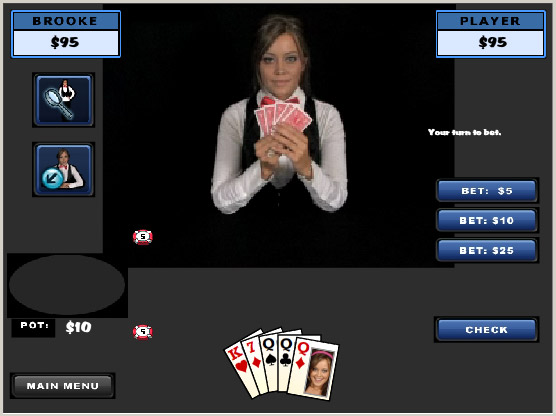 Play Virtual Strip Poker with Brooke Lima!