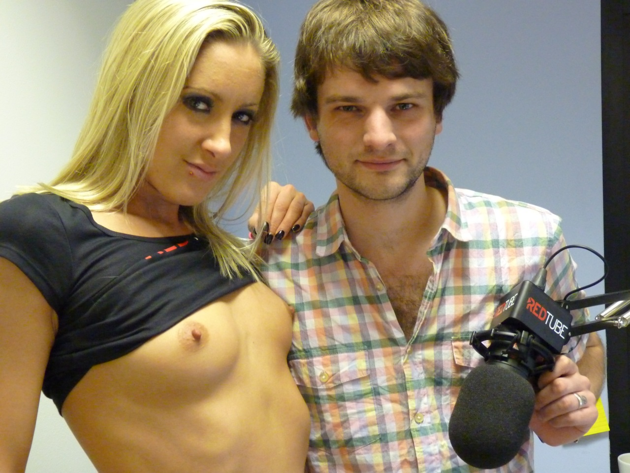 Angel Long with Allan Lake in RedTube Studio