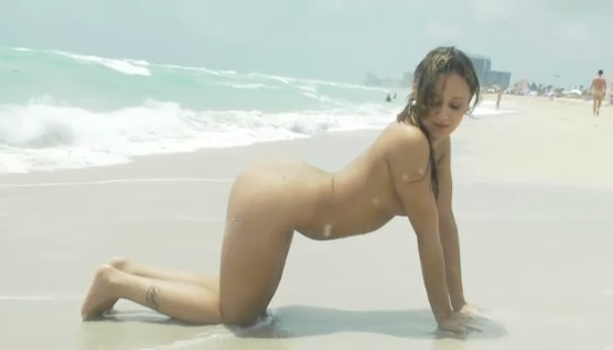 Boobers Girl, Sexy Lynn Love showing off on the beach!