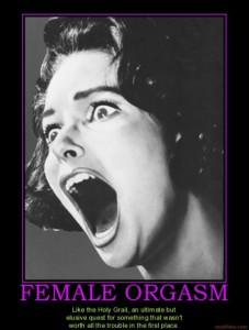 Female Orgasm Demotivational Poster