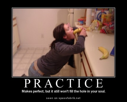 Funny porn pic! Practice makes perfect!